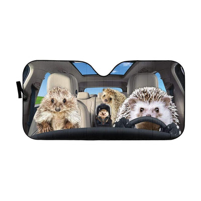 gearhumans 3D Hedgehogs Custom Car Auto Sunshade GS23075 Auto Sunshade 57''x27.5''