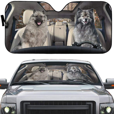 gearhumans 3D Keeshond Dog Custom Car Auto Sunshade GW10073 Auto Sunshade
