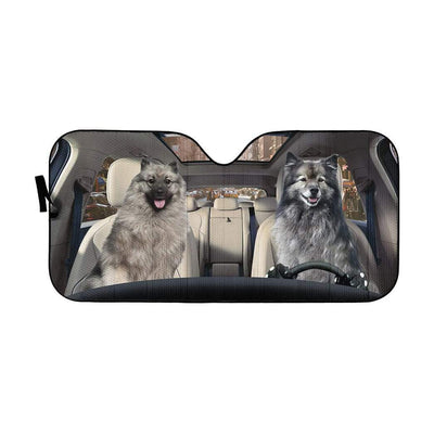 gearhumans 3D Keeshond Dog Custom Car Auto Sunshade GW10073 Auto Sunshade 57''x27.5''