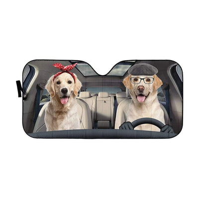 gearhumans 3D Labrador Retriever Family Custom Car Auto Sunshade GW070610 Auto Sunshade 57''x27.5''