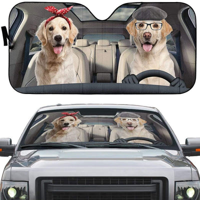 gearhumans 3D Labrador Retriever Family Custom Car Auto Sunshade GW070610 Auto Sunshade