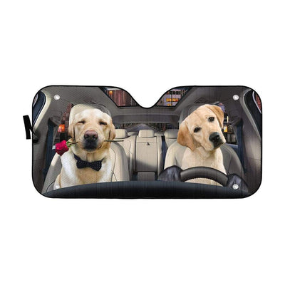 gearhumans 3D Lovely Retrever Puppy Auto Sunshade GL18061 Auto Sunshade 57''x27.5''