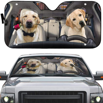 gearhumans 3D Lovely Retrever Puppy Auto Sunshade GL18061 Auto Sunshade
