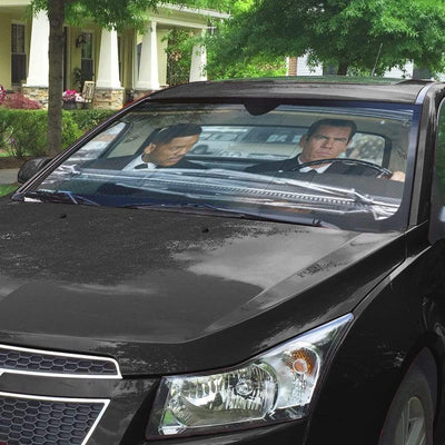 gearhumans 3D Men In Black Custom Car Auto Sunshade GL05088 Auto Sunshade