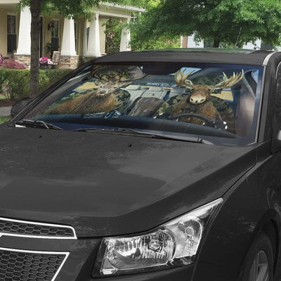 gearhumans 3D Moose and Elk Custom Car Auto Sunshade GS26066 Auto Sunshade