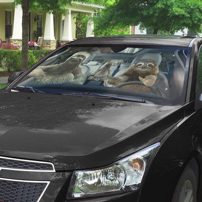 gearhumans 3D Sloths Custom Car Auto Sunshade GS23063 Auto Sunshade
