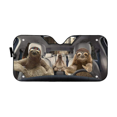gearhumans 3D Sloths Custom Car Auto Sunshade GS23063 Auto Sunshade 57''x27.5''