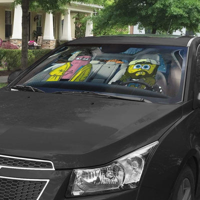 gearhumans 3D Spongebob And Patrick Rob Custom Car Auto Sunshade GL17061 Auto Sunshade