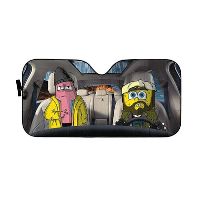 gearhumans 3D Spongebob And Patrick Rob Custom Car Auto Sunshade GL17061 Auto Sunshade 57''x27.5''
