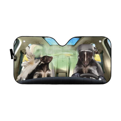 gearhumans 3D Stinky Skunks Custom Car Auto Sunshade GS26062 Auto Sunshade 57''x27.5''