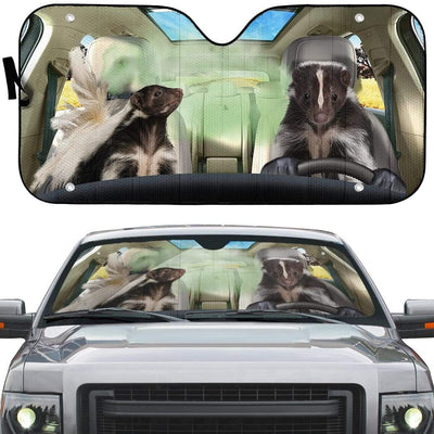 gearhumans 3D Stinky Skunks Custom Car Auto Sunshade GS26062 Auto Sunshade