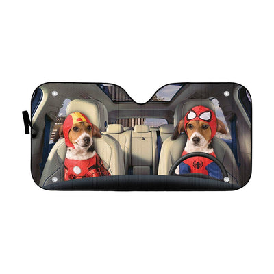 gearhumans 3D The Beaglevenger Custom Car Auto Sunshade GW21081 Auto Sunshade 57''x27.5''