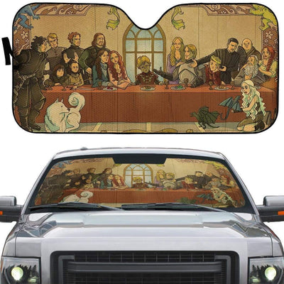 gearhumans 3D The Last Supper Game Of Thrones Custom Car Auto Sunshade GL16078 Auto Sunshade