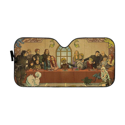 gearhumans 3D The Last Supper Game Of Thrones Custom Car Auto Sunshade GL16078 Auto Sunshade 57''x27.5''