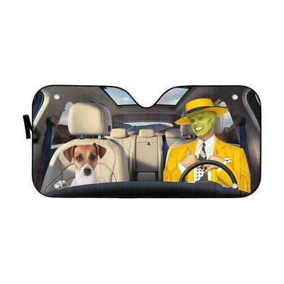 gearhumans 3D The Mask Custom Car Auto Sunshade GL290713 Auto Sunshade 57''x27.5''