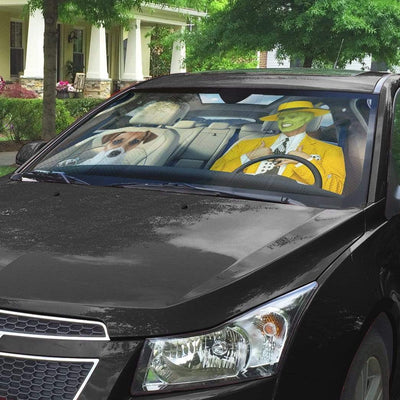 gearhumans 3D The Mask Custom Car Auto Sunshade GL290713 Auto Sunshade