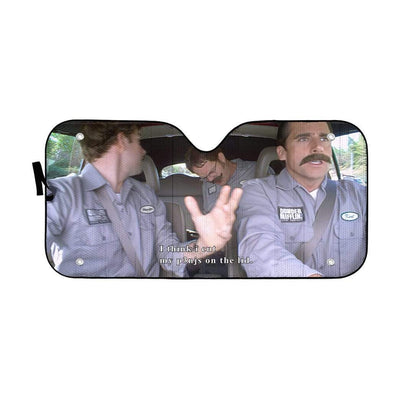 gearhumans 3D The Office Branch War Custom Car Auto Sunshade GN18074 Auto Sunshade 57''x27.5''