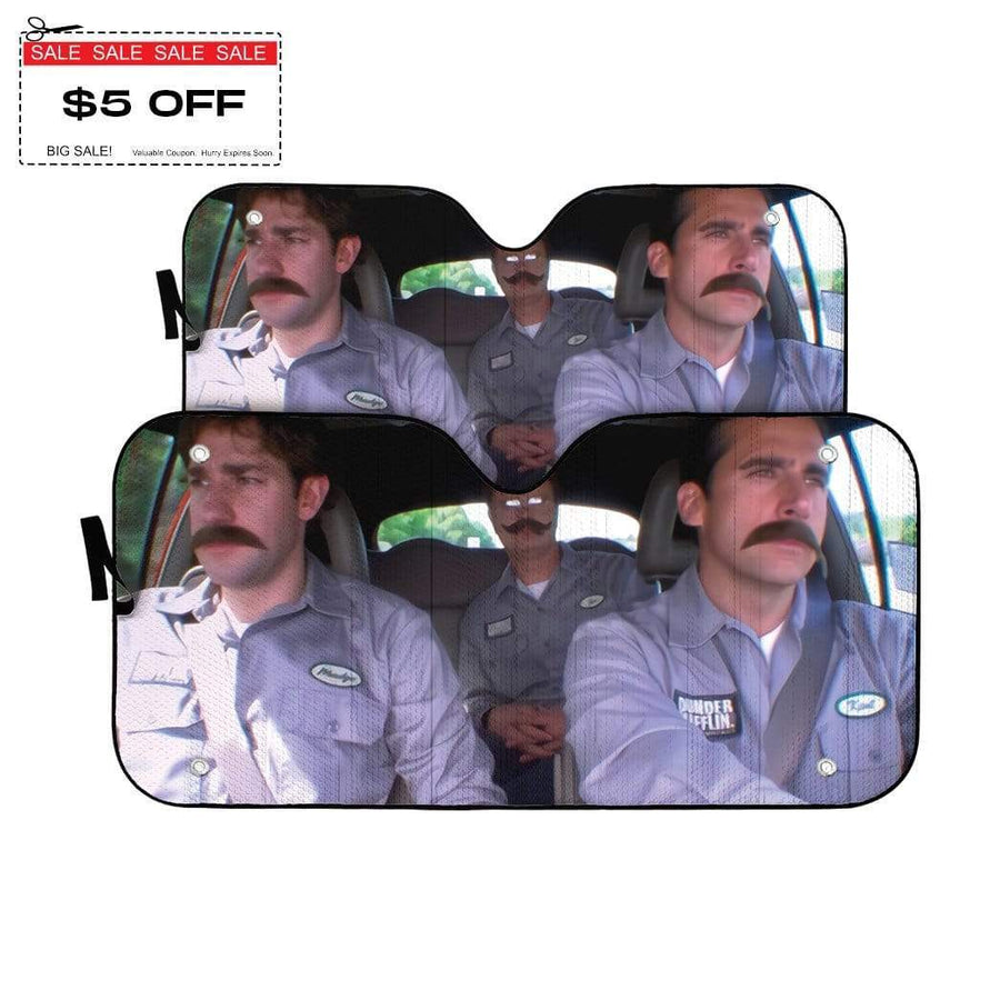 gearhumans 3D The Office Branch War Custom Car Auto Sunshade
