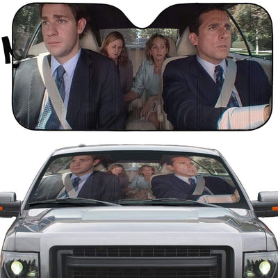 gearhumans 3D The Office Double Date Custom Car Auto Sunshade GW27075 Auto Sunshade