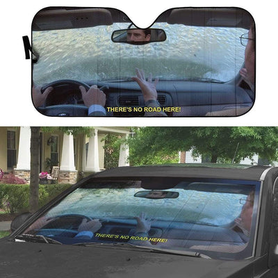 gearhumans 3D The Office Michael Drives Into Lake Custom Car Auto Sunshade GW310718 Auto Sunshade