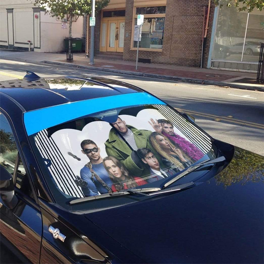 gearhumans 3D Umbrella Academy Custom Car Auto Sunshade GL31075 Auto Sunshade 57''x27.5''