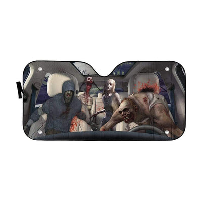 gearhumans 3D Zombies Left 4 Dead Custom Car Auto Sunshade Custom Car Auto Sunshade GL210717 Auto Sunshade 57''x27.5''