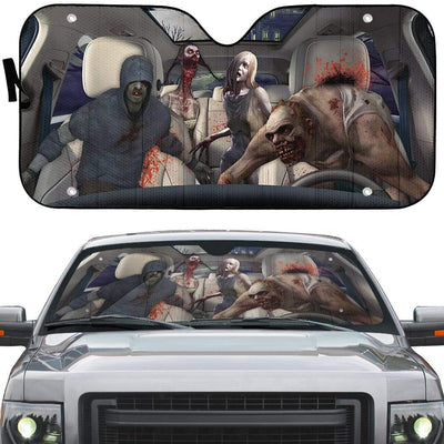 gearhumans 3D Zombies Left 4 Dead Custom Car Auto Sunshade Custom Car Auto Sunshade GL210717 Auto Sunshade