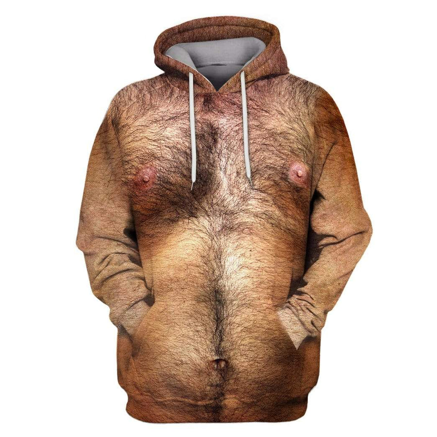 Hairy Man Custom T-shirt - Hoodies Apparel