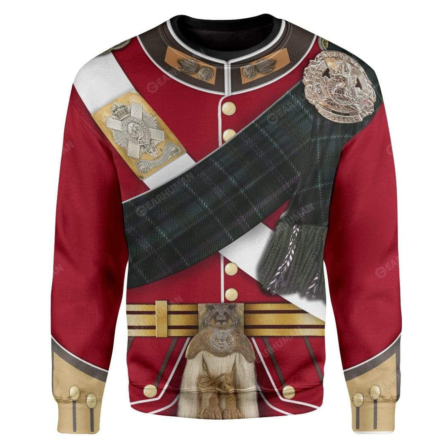 Gearhumans Hoodie Custom A Scottish Uniform Of A Lieutenant Apparel