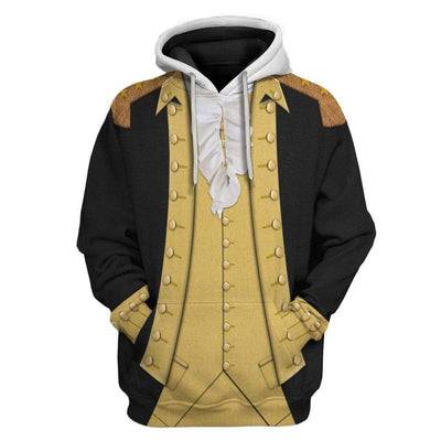 Hoodie Custom George Washington T-shirt - Hoodies - Sweater Apparel HD-GH1106169 3D Custom Fleece Hoodies Hoodie S
