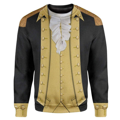 Hoodie Custom George Washington T-shirt - Hoodies - Sweater Apparel HD-GH1106169 3D Custom Fleece Hoodies Long Sleeve S