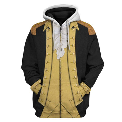 Hoodie Custom George Washington T-shirt - Hoodies - Sweater Apparel HD-GH1106169 3D Custom Fleece Hoodies Zip Hoodie S