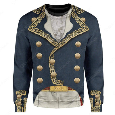 Hoodie Custom Marquis de Lafayette Apparel T101004 3D Custom Fleece Hoodies Long Sleeve S