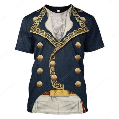 Hoodie Custom Marquis de Lafayette Apparel T101004 3D Custom Fleece Hoodies T-Shirt S