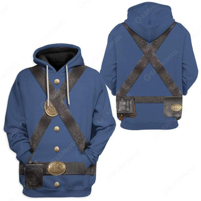 Hoodie Custom Union Infantry Uniform in Civil War Apparel HD-TA2191909 3D Custom Fleece Hoodies