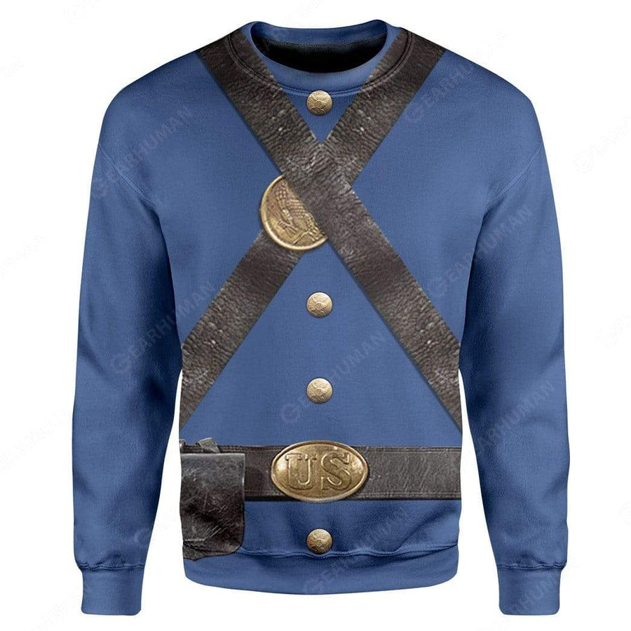 Hoodie Custom Union Infantry Uniform in Civil War Apparel