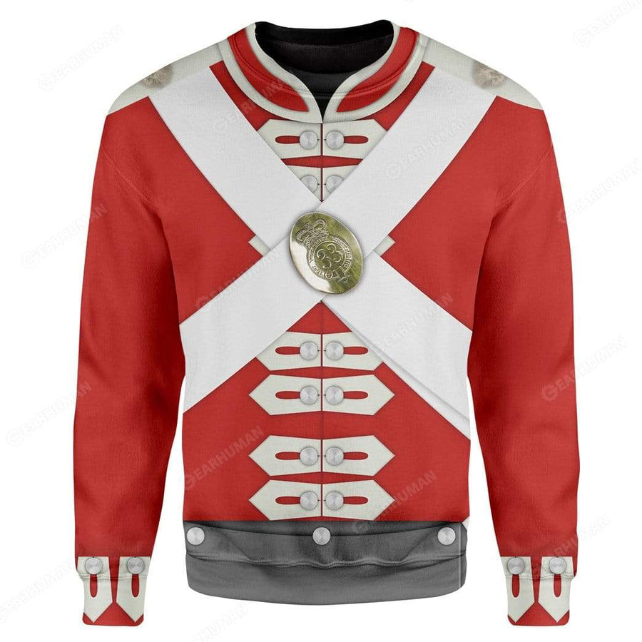 Hoodie Custome British Army Redcoats Apparel HD-DT15101913 3D Custom Fleece Hoodies Hoodie S