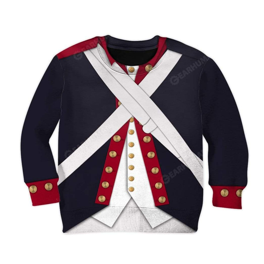 Hoodie Kid Continental Army Apparel HD-DT2791908K Kid 3D Apparel Kid Hoodie 2XS