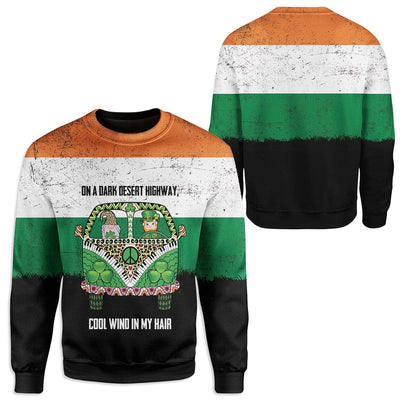 Irish On A Dark Desert Highway Custom T-Shirts Hoodies Apparel HD-TA0302205 3D Custom Fleece Hoodies
