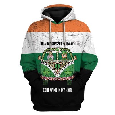 Irish On A Dark Desert Highway Custom T-Shirts Hoodies Apparel HD-TA0302205 3D Custom Fleece Hoodies Hoodie S