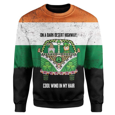 Irish On A Dark Desert Highway Custom T-Shirts Hoodies Apparel HD-TA0302205 3D Custom Fleece Hoodies Long Sleeve S