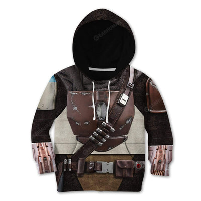 Kid The Mandalorian Custom T-Shirts Hoodies Apparel CO-AT0512192 Kid 3D Apparel Kid Hoodie 2XS