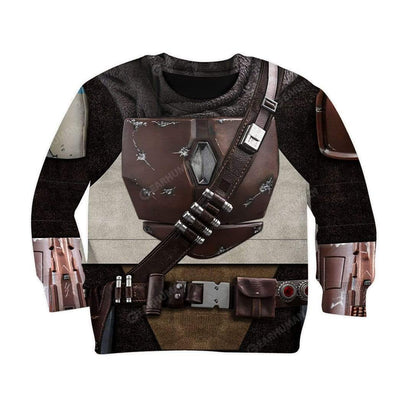 Kid The Mandalorian Custom T-Shirts Hoodies Apparel CO-AT0512192 Kid 3D Apparel Kid Sweatshirt 2XS
