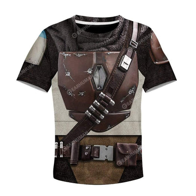 Kid The Mandalorian Custom T-Shirts Hoodies Apparel CO-AT0512192 Kid 3D Apparel Kid T-Shirt 3XS