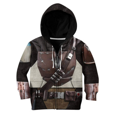 Kid The Mandalorian Custom T-Shirts Hoodies Apparel CO-AT0512192 Kid 3D Apparel Kid Zip Hoodie 2XS