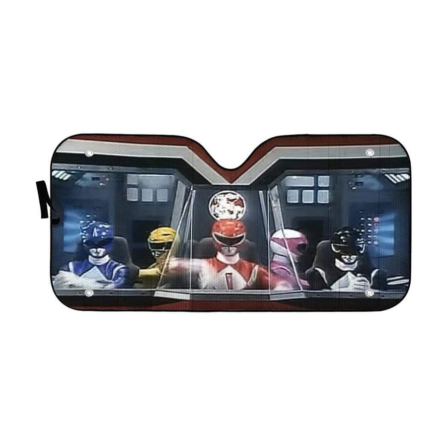 Mighty Morphin Power Rangers Custom Auto Car SunShade