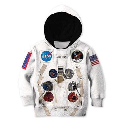 Nasa astronaut Kid Custom Hoodies T-shirt Apparel HD-GH20365K kid 3D apparel Kid Hoodie 2XS