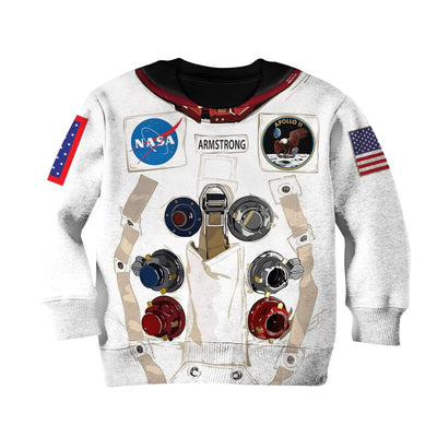 Nasa astronaut Kid Custom Hoodies T-shirt Apparel HD-GH20365K kid 3D apparel Kid Sweatshirt 2XS