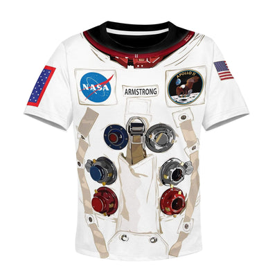 Nasa astronaut Kid Custom Hoodies T-shirt Apparel HD-GH20365K kid 3D apparel Kid T-Shirt 3XS