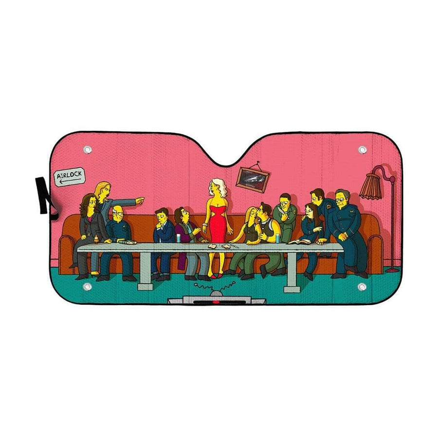 The Last Supper Simpsons Custom Auto Car SunShade GN15079 Auto Sunshade 57''x27.5''